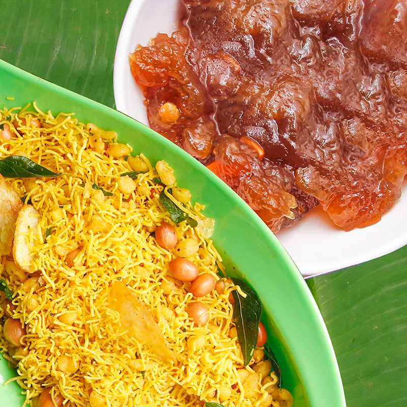 Tirunelveli  Halwa With Garlic Mixture Kaaram Combo